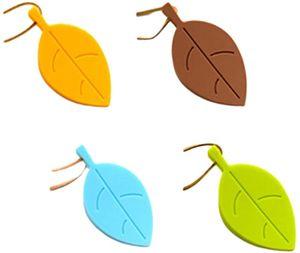 Türkeil Gummi Keil Blätter Form Türstopper/Fensterstopper Türanschlag Protektor für Baby Kinder Kleinkinder Haustier 4 Stücke (Zufällige Farbe)