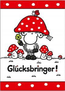Sheepworld - 50546 - Postkarte, Grußkarte, Nr. 5, Schaf, Glücksbringer!, Pappe