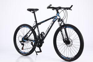 Mountainbike/Fahrräder 26 Zoll 21 Gang-Schaltung Fahrradrahmen aus kohlenstoffhaltigem Lackierte Innenaufkleber Blau/Schwarz
