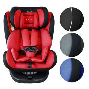 XOMAX 916 Auto Kindersitz mit 360° Drehfunktion und ISOFIX für Kinder von 0 - 36 kg (Klasse 0, I, II, III) Farbe Schwarz/Rot
