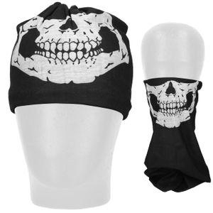 mumbi Multifunktionstuch Schlauchschal Mund Nase Bedeckung Bandana Maske Gesichtsmaske Skull white