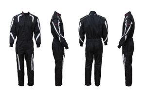 Kart- & Motorsportoverall, Modell CRUISER II, schwarz/weiß, keep-racing® , CRUISER:60(2XL)
