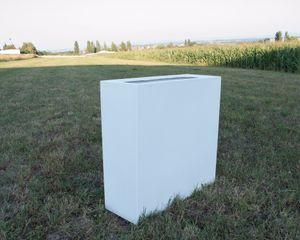 Pflanztrog, Pflanzkübel Fiberglas als Raumteiler 108x40x100cm perlmutt weiß.