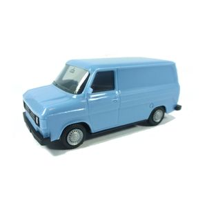 Herpa 094863 Ford Transit blau Maßstab 1:87