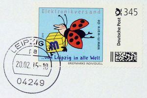 FDC mit 345-Cent Marke 'Marienkäfer 2', 2015, ungel. M-ware® ID15668