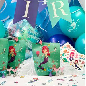 Oblique Unique Meerjungfrau Konfetti 24 Stk. Meer Motive Kinder Geburtstag Mädchen Motto Party Tisch Deko Streudeko