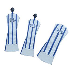 3 Stück Golf Wood Head Covers Blau Holzkopfhüllen 34 x 15,5 cm