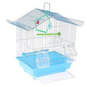 Haustier Vogelkäfig mit Ständer, für kleine Papageien Sittich Conure Farbe zufällig 30x23x38cm