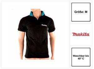 Makita Polo Rugby Shirt T-Shirt Größe M 100% Baumwolle ( 98P184-M ) Farbe schwarz
