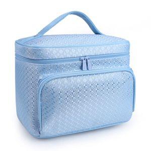 Kosmetiktasche Handtaschen Organizer Groß Tasche Beautycase Waschtaschen Kulturbeutel Makeup, Blau