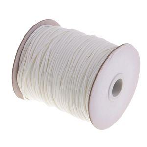 80M 2mm gewachste Baumwollschnur, die Schnur für DIY Schmucksachen Makramee Weiß wie beschrieben