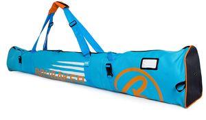 BRUBAKER Skitasche Carver Champion gepolsterter Skisack 190 cm für 1 Paar Ski und Stöcke Blau Orange