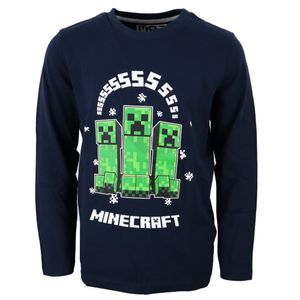 Minecraft Creeper Gamer Kinder langarm Shirt Gr. 134