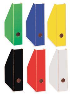 6 Stehsammler / Stehordner / DIN A4 / 6 verschiedene Farben