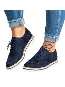 Damen Fashion Loafers Sneakers Damen Mokassins Plattform Freizeitschuhe Schnüren,Farbe: Navy blau ,Größe:39