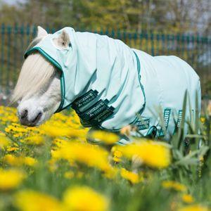 Horseware Rambo Petite Hoody - Ice-Green/Green, Größe:65