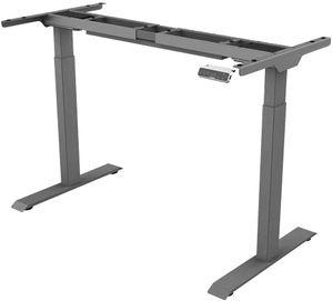 SANODESK Basic Line - elektrisch stufenlos höhenverstellbarer Schreibtisch, Tischgestell mit Kollisionschutz, Memory-Steuerung und Kindersicherheit