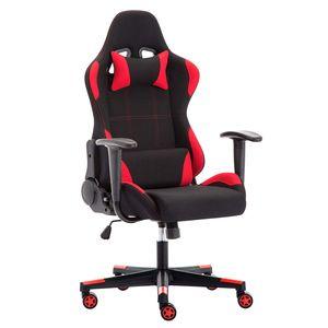 IntimaTe WM Heart - Racing Gamer Stuhl Bürostuhl Stoff, Ergonomischer Computerstuhl Drehstuhl mit Hoher Rückenlehne - Rot
