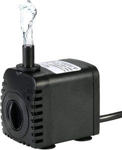 Decdeal 600L/H 8W Tauchpumpe Aquarium Pumpe Wasserpumpe mit 2 Düsen für Brunnen Aquarium