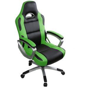 Gaming Stuhl Bürostuhl Schreibtischstuhl Drehstuhl Höhenverstellbarer Gaming Sessel PC Stuhl Ergonomisches Chefsessel Grün