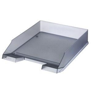 Herlitz Ablagekorb / Briefkorb / Briefablage / Farbe: transluzent grau