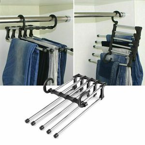 3 Stk Hosenregal Edelstahl Multifunktionaler Kleiderschrank Magic Hanger Platzsparend Kleiderbügel Anti-Rutsch Garderobenbügel Hemdbügel