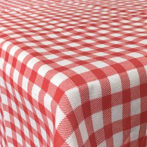 Tischdecke Karo Muster Rot 90 x 240 cm- Moderne Bierbank und Fest Zelt Garnituren für jede Art von Veranstaltungen,  verschiedene Größen & Farben wählbar
