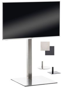 CLP TV Ständer, Farbe:edelstahl, Form:eckig