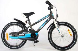 18 Zoll Kinderfahrrad Jungenfahrrad Kinder Fahrrad Mädchenfahrrad Rad Bike Rücktrittbremse Blade Blau Grau 81813