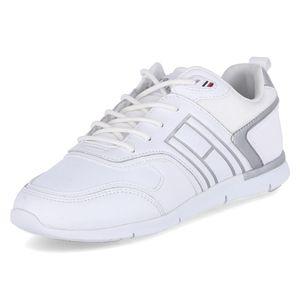 Tommy Hilfiger Damen Sneaker Sneaker Low Leder-/Textilkombination weiss 37