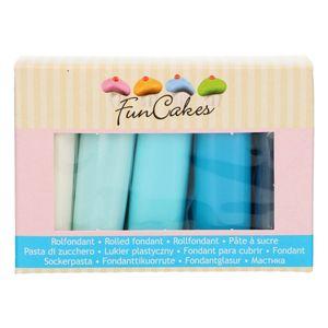 FunCakes Fondant Multipack Blau Colour Palette 5 x 100 g