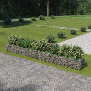 Gabionen-Hochbeet Garten-Hochbeet Hochbeet Verzinkter Stahl 540×50×50 cm