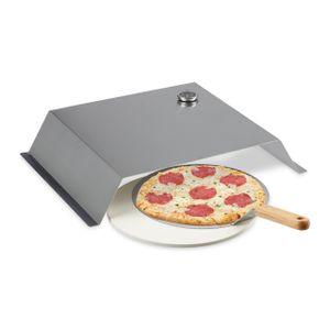relaxdays BBQ Pizzaaufsatz, Pizzastein   Schieber