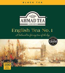 Ahmad Tea- English Tea No.1 Schwarzer Beutel- Tee, Aroma-versiegelt Folie Verpackt 100 St. á 2 Gramm