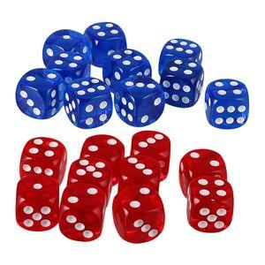 20 Stück D6 Würfel Punkt Dice Spielwürfel für Party Spiel