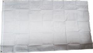 Fahne Flagge weiß zum Bemalen 90 x 150 cm mit 2 Ösen von Versand-King