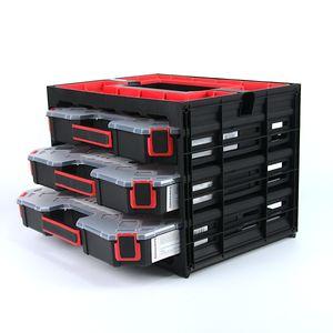 Werkzeug-Koffer Organiser Sortimentsbox Sortimentskasten Kleinteilemagazin mit Trennwänden