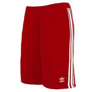 Adidas Originals Joggingshort Herren 3-STRIPES SHORT DV1525 Rot, Größe:XL