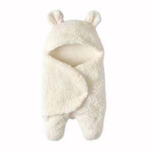 Baby Wickeldecke Baby Bettwäsche Decke Schlafsack 29x55cm Weiß für 0-12 Monate Decke