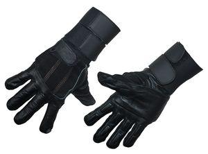 Leder Anti-Vibrationshandschuhe Mechaniker Handschuhe Sport Motorrad Motorcross, Größe:XXL