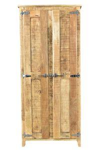 SIT Möbel Schrank aus Mangoholz in natur mit 2 Türen | B  80 x T 40 x H 180 cm | 02564-01| Serie FRIGO