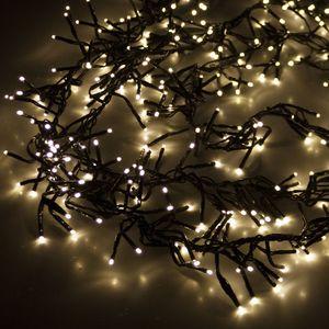 Cluster-Lichterkette 1500 LEDs Warmweiß 30m mit 8 Lichteffekten In- & Outdoor
