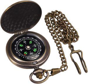 Messing Kompass Outdoor Taschen Wandern Camping Schlüsselbund Wasserdicht Uhr Kompass Marschkompass Metallgehäuseb