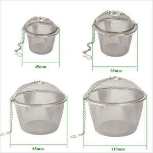 8.5cm Teesieb Teefilter aus Edelstahl für Tassen und Kannen, Durchmesser: Ca.8.5cm Silber