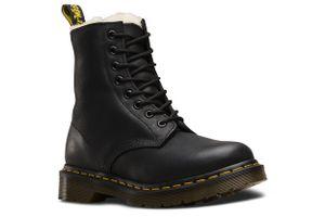 Dr. Martens 1460 Serena Black Felix Rub Off Damen Boots Stiefel Schuhe Schwarz, Größe:38