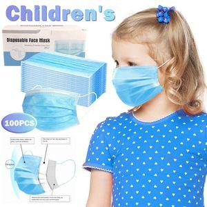 100Pc Kinder Einweg Gesichtsmasken Schutz Kindermaske 3 Schicht Filtration