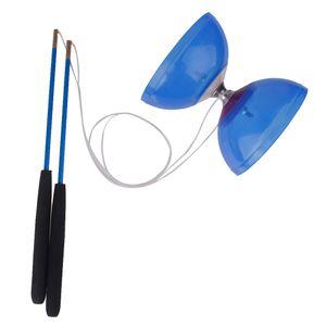 5 Lager Diabolo Mit Handstäbe Schnur Kinder Jonglierspiel Spielzeug Farbe Blau