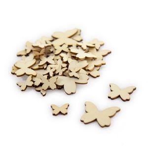 Oblique Unique 50 Holz Schmetterlinge Holzdeko Tischdeko Streudeko für Ostern Geburtstag JGA Hochzeit Basteln Echtholz
