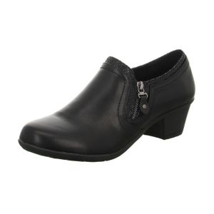 Alyssa Damen-Slipper-mittlerer Absatz Schwarz, Farbe:schwarz, EU Größe:38