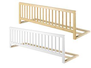 Universeller Rausfallschutz für Betten Kindersicherung Massivholz Bettgitter klappbar 60.Kisi, Holzart / Holzfarbe:Kiefer weiß